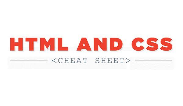 HTML & CSS Cheat Sheet - Infographic